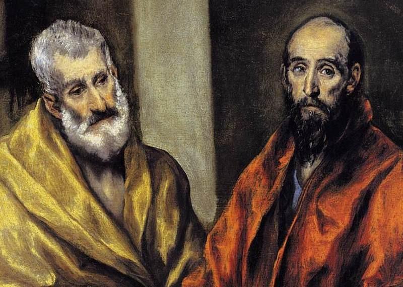 Апостолите Петър и Павел, фрагмент, 1605-1608 г. Ел Греко