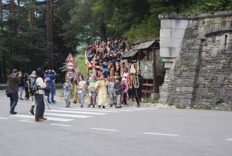 Влизането в Рилския манастир