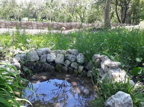 Изграждане на каменна ограда на един от изворите