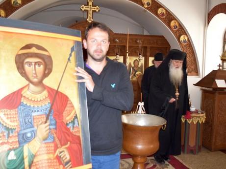 Късно вечерта в параклиса на Рилския манастир