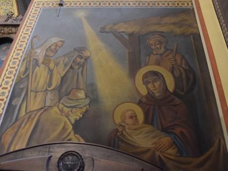 Рождество Христово, стенопис, храм Св. Николай Чудотворец