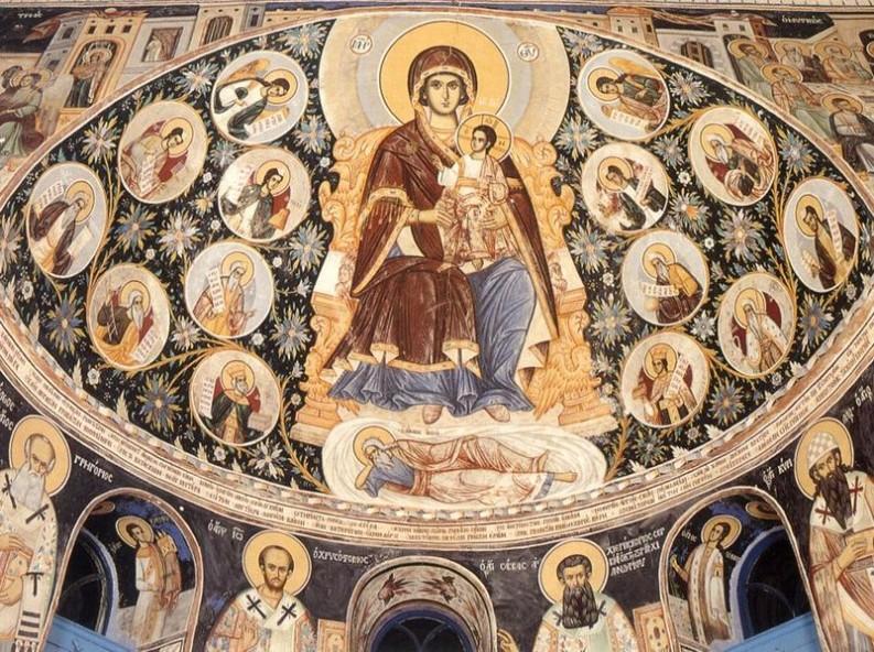 Родословие на Иисус Христос - фреска от манастира Ватопед, Света Гора - Атон