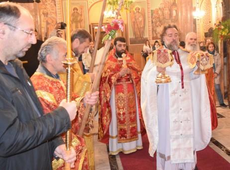 Пасхална св. литургия в съслужение с о.Александър от Тараклия
