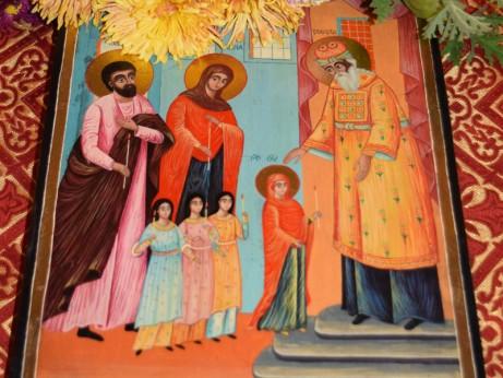 Проповядване на нашето спасение  (из тропара на празника)