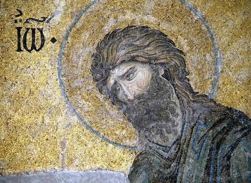 свети пророк Йоан Кръстител, византийска мозайка, храм Света София, Цариград