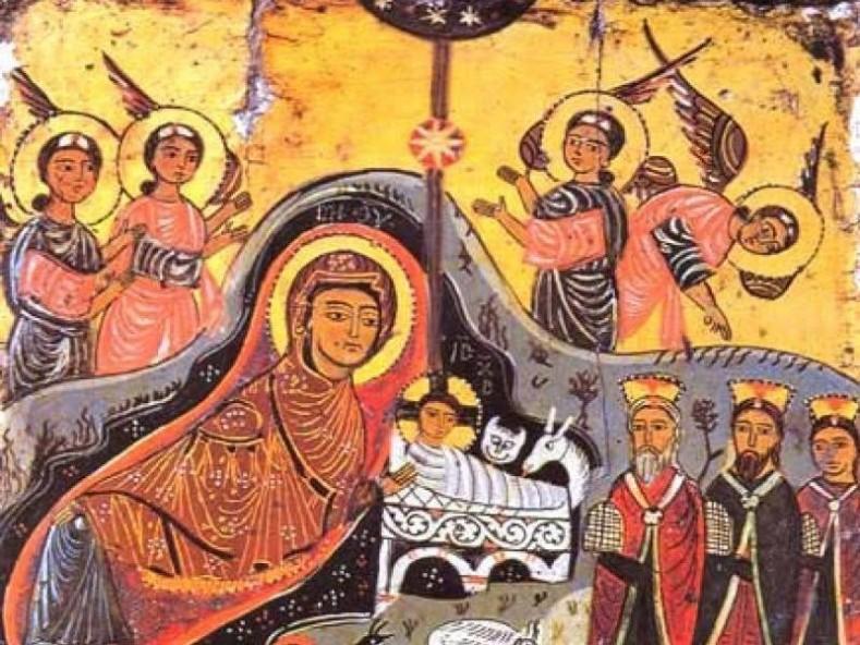 Рождество, икона VII-IX в., манастир Св. Екатерина, Синай