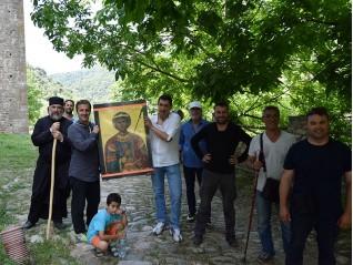 Завърши поклонническото пътуване до Света Гора с иконата на св. Георги Зографски