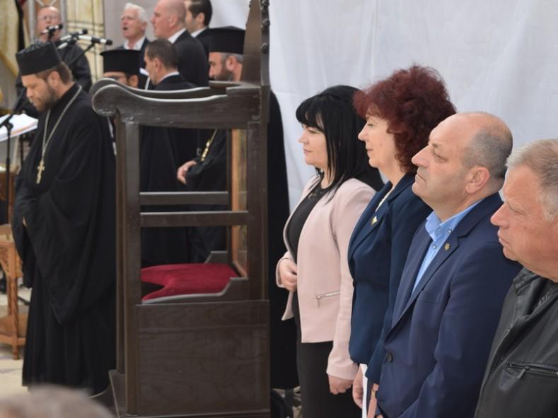 Официални лица от местната управа на гр. Плиска и гр. Каспичан