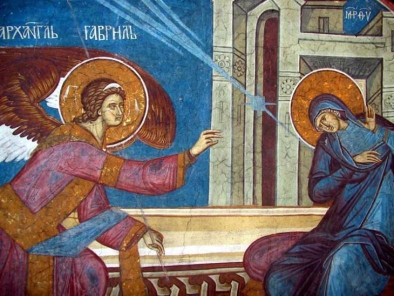 Благовещение. Манастар Високи Дечани, 14 век