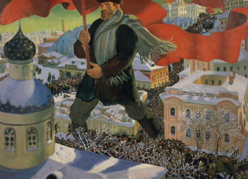 Борис Кустодиев. Болшевик.1919-1920. Третяковска галерия, Москва