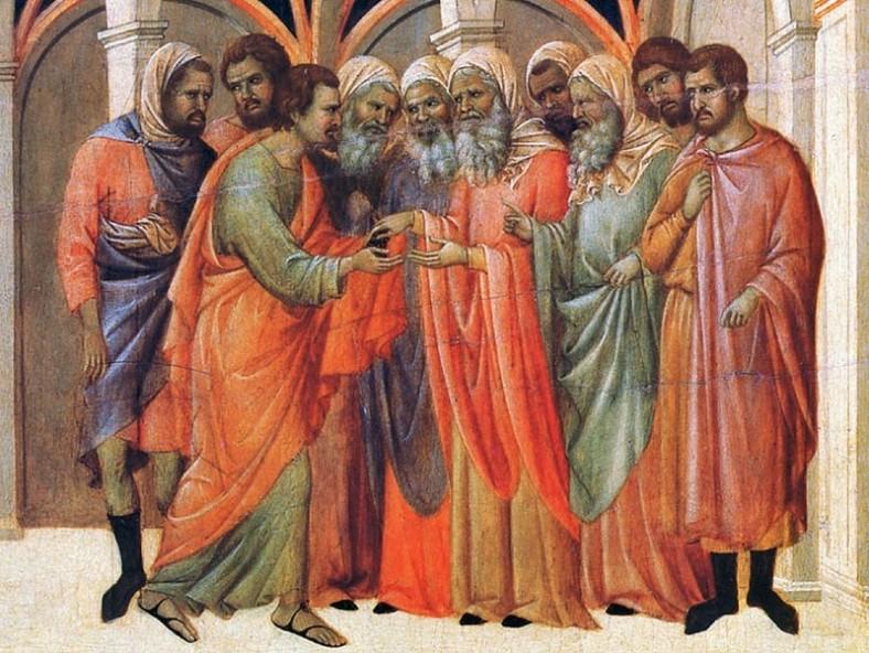 Предателството на Юда. Дучо ди Буонинсеня, XIII век