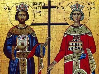 Свети равноапостолни цар Константин и царица Елена