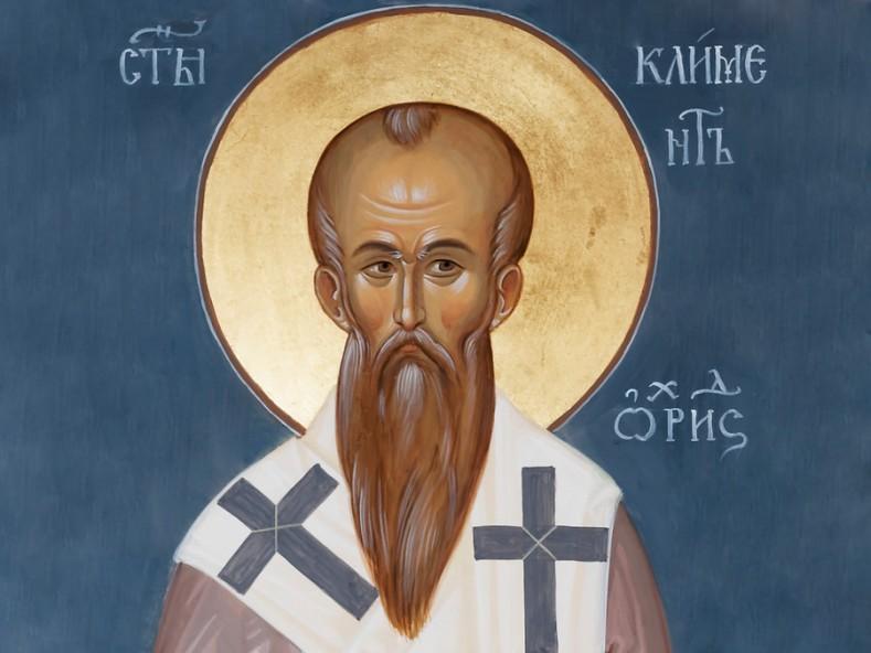 Св. Климент Охридски, фрагмент - съвременен стенопис в Троянския манастир, иконописец - Галин Ганчев
