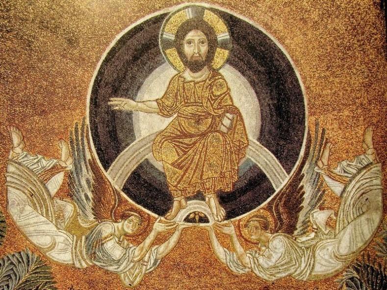 Възнесение Господне. Мозайка. IX в. Храм Св. София. Солун, Гърция (wikipedia.org)