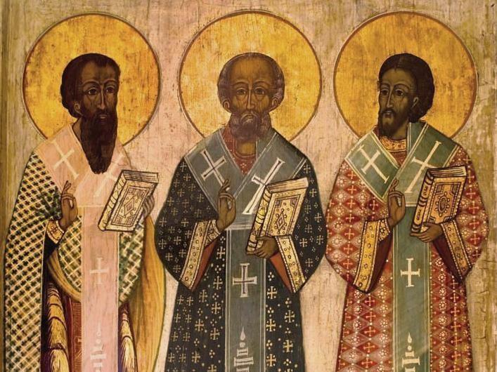 Светите Трима Светители, икона, фрагмент (източник: doxologia.ro)