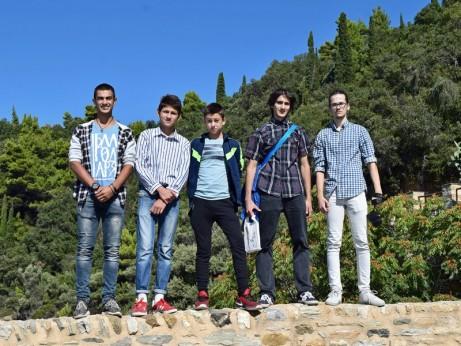 Първата група - към Зограф