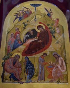 Рождественска икона - дар за храма от Неделното училище