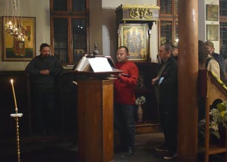 Хор за източно-църковно пеене с диригент Мартин Димитров