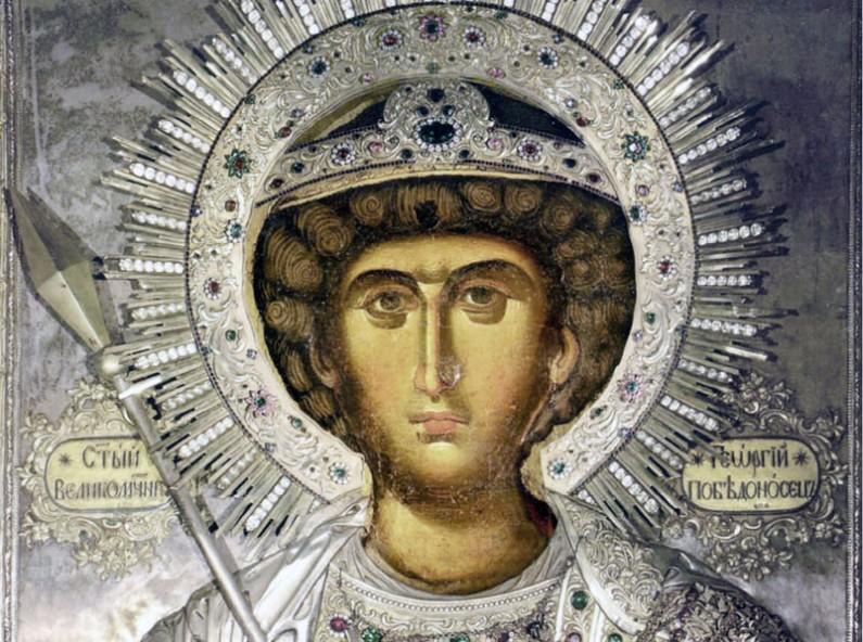 Фануилска икона на св. Георги, фрагмент