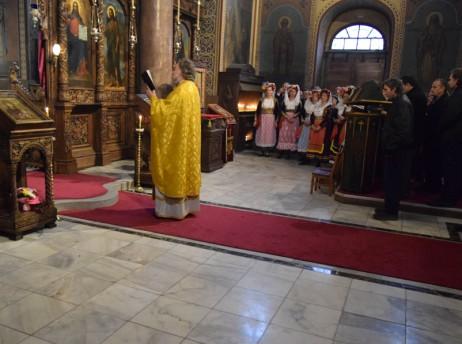 Празнична Света Литургия с участие на гости от с. Св. Матей, о. Корфу