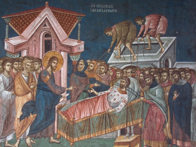 Стенопис от манастира Високи Дечани, 14 в.