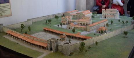 Археологически музей Велики Преслав, макет на вътрешния град с най-важните разкрити сгради