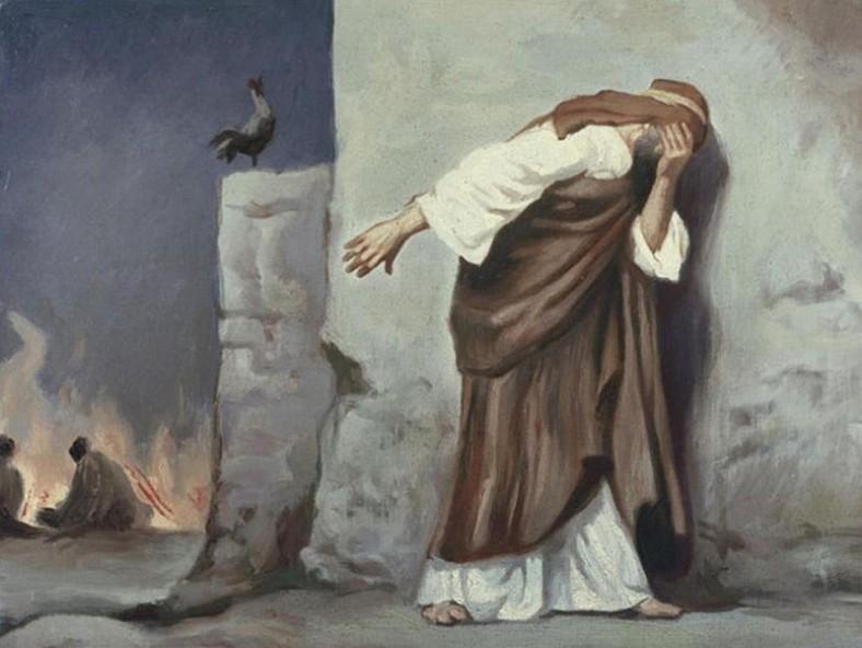 Антон Роберт Лайнвебер -  Отричането на Петър. 1921 (vichuga-voskr.cerkov.ru)