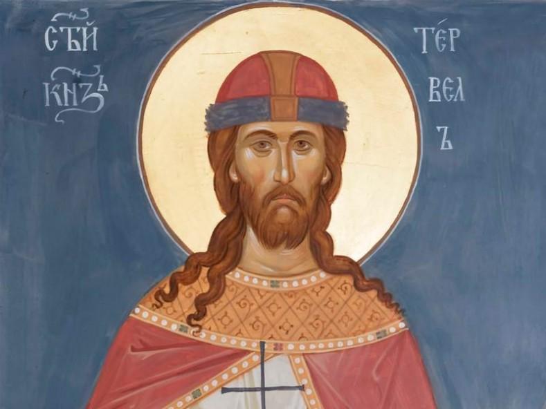 Съвременен стенопис от Троянския манастир (фрагмент), иконописец - Галин Ганчев