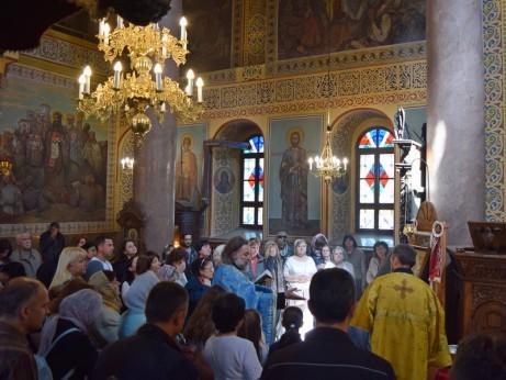 Освещаване на иконите на Пресвета Богородица